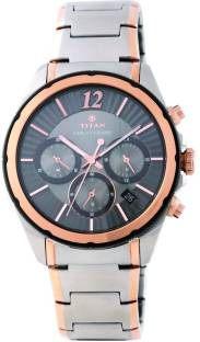 Titan Regalia 1748KM01 Sovereign Analog Grey Dial Men's Watch (1748KM01)