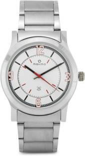 Maxima 20892CMGI Attivo Steel Analog White Dial Men's Watch (20892CMGI)