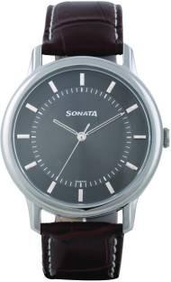 Sonata 7128SL02 Sleek Analog Grey Dial Men's Watch (7128SL02)