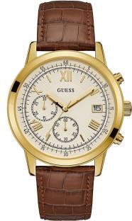 Guess W1000G3 Beige Chronograph Analog Men's Watch (W1000G3)