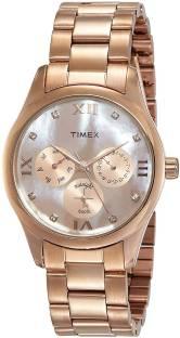 Timex TW000W208 Brown Dial Round Analog Women's Watch (TW000W208)