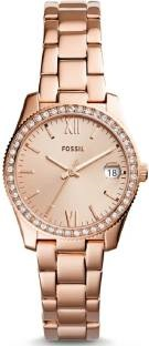 Fossil ES4318 Analog Rose Gold Dial Women's Watch (ES4318)