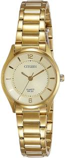 Citizen ER0203-85P Gold Dial Analog Watch For Women (ER0203-85P)