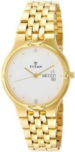 Titan Karishma 1107YM07 Analog White Dial Men's Watch (1107YM07)