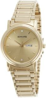 Sonata 1141YM10 Analog Gold Dial Men's Watch (1141YM10)