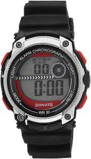 Sonata 77005PP03J Digital Black Dial Men's Watch (77005PP03J)