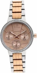 Titan 95058KM01 Analog Pink Dial Women's Watch (95058KM01)
