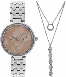 Titan 95059SM01F Analog Pink Dial Women's Watch (95059SM01F)