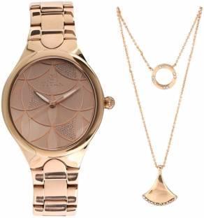Titan 95060WM01F Analog Pink Dial Women's Watch (95060WM01F)