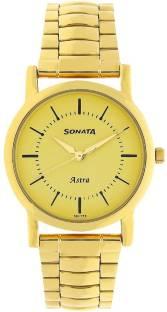 Sonata 77049YM01CJ Gold Toned Analog Men's Watch (77049YM01CJ)