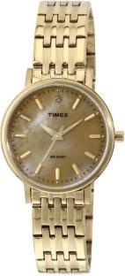 Timex TW0TL9109 Beige Dial Analog Women's Watch (TW0TL9109)
