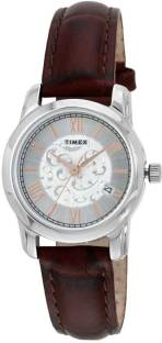 Timex TWEL11507 White Dial Analog Women's Watch (TWEL11507)