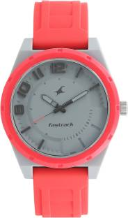Fastrack 38040PP04 Trendies Grey Dial Analog Watch For Men (38040PP04)