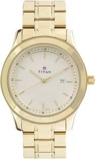 Titan Regalia 1627YM04 Baron Champagne Dial Analog Men's Watch (1627YM04)