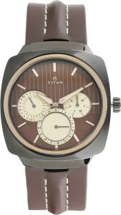 Titan 1754KL01 Brown Dial Analog Men's Watch (1754KL01)