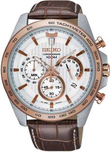 Seiko SSB306P1 White Dial Analog Men's Watch (SSB306P1)
