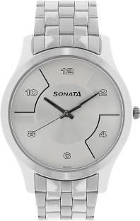 Sonata NK77063SM02 White Analog Men's Watch (NK77063SM02)