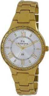 Maxima 44501BMLY Silver Dial Analog Women's Watch (44501BMLY)