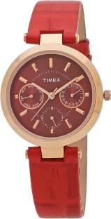 Timex TWEL11810 Red Dial Analog Women's Watch (TWEL11810)