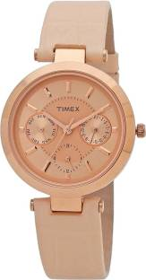 Timex TWEL11811 Pink Dial Analog Women's Watch (TWEL11811)