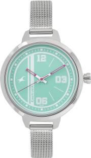 Fastrack 6174SM01 Varsity Silver Dial Analog Women's Watch (6174SM01)