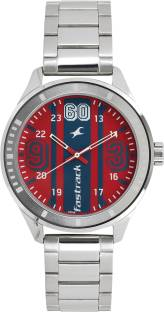 Fastrack 3177SM01 Varsity Silver Dial Analog Watch For Men (3177SM01)