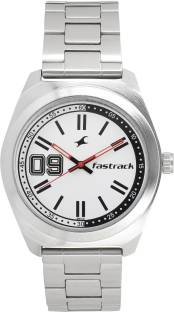Fastrack 3174SM01 Varsity Silver Dial Analog Watch For Men (3174SM01)