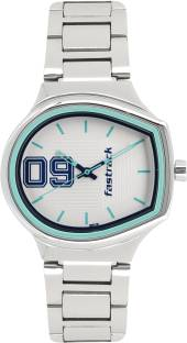 Fastrack 6175SM01 Varsity Silver Dial Analog Watch For Women (6175SM01)