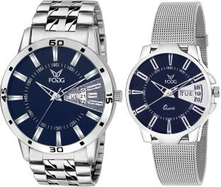 Fogg 5070-BL Analog Blue Dial Couple Watch (5070-BL)
