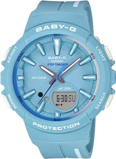Casio Baby-G BGS-100RT-2ADR BX106 Blue Dial Analog Watch For Women (BGS-100RT-2ADR BX106)