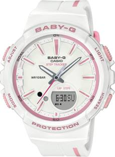 Casio Baby-G BGS-100RT-7ADR BX107 White Dial Analog Watch For Women (BGS-100RT-7ADR BX107)