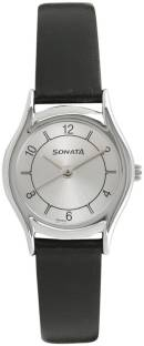 Sonata 87020SL03 Essentials Analog Silver Dial Women's Watch (87020SL03)