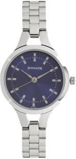 Sonata 8151SM04 Steel Daisies Analog Blue Dial Women's Watch (8151SM04)