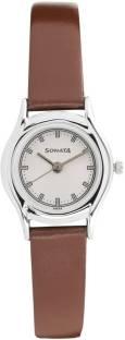 Sonata 87020SL01 Essentials Analog White Dial Women's Watch (87020SL01)