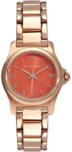 Giordano 2710-44 Orange Dial Analog Women's Watch (2710-44)