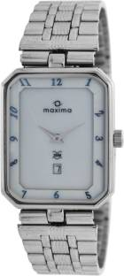 Maxima 07365CMGI White Dial Analog Men's Watch (07365CMGI)