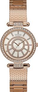 Guess W1008L3 Rose Gold Dial Analog Women's Watch (W1008L3)