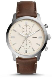 Fossil FS5350 Cream Coloured & Brown Analogue Men's Watch (FS5350)