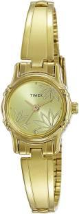 Timex TW000B817 Gold Dial Analog Women's Watch (TW000B817)