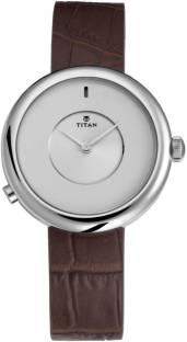 Titan 90060SL01 Analog White Dial Women's Watch (90060SL01)