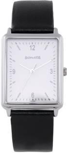 Sonata 77084SL01 White Analog Men's Watch (77084SL01)