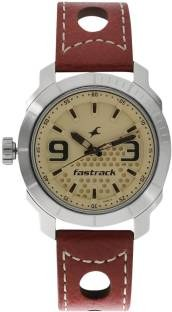 Fastrack 3168SL02 Loopholes Analog Grey Dial Men's Watch (3168SL02)