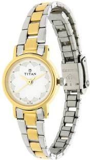 Titan NJ917BM01 Analog White Dial Women's Watch (NJ917BM01)