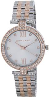 Giordano A2063-77 Silver-Toned Analog Women's Watch (A2063-77)