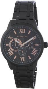 Giordano A1077-55 Black Dial Analog Men's Watch (A1077-55)