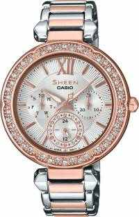 Casio Sheen SHE-3061SPG-7AUDR (SX213) Analog Silver Dial Women's Watch (SHE-3061SPG-7AUDR (SX213))