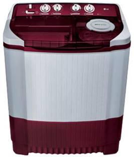 LG 8Kg top Load Semi Automatic Washing Machine Burgandy (P9042R3SM, Burgandy)