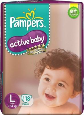 Pampers Active L Diapers (18 Pieces)