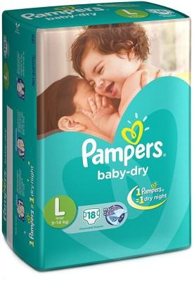 Pampers Dry L Diapers (18 Pieces)
