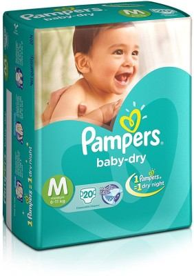 Pampers Dry M Diapers (20 Pieces)